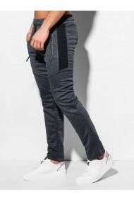 Pantaloni de trening barbati P1011 - gri-inchis