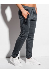 Pantaloni de trening barbati P1012 - gri-inchis