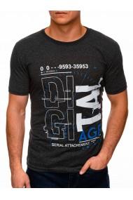 Tricou barbati S1396 - negru-gri