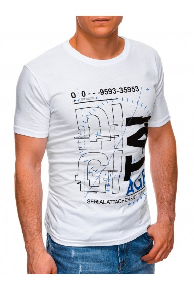Tricou barbati S1396 - alb