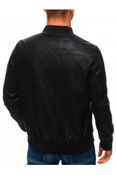 Geaca piele ecologica barbati C492 - negru