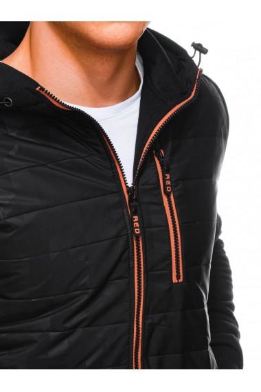 Hanorac barbati B1239 - negru-portocaliu