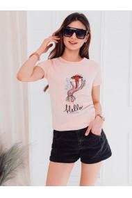 Tricou femei SLR008 - roz