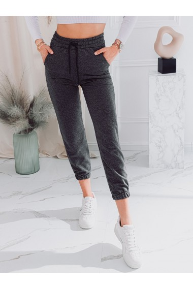 Pantaloni de trening femei PLR046 - gri-inchis