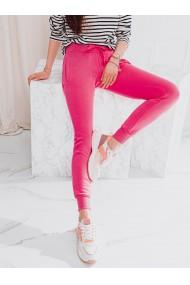 Pantaloni de trening femei PLR001 - roz-inchis
