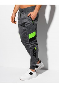 Pantaloni de trening barbati - P1031 - gri-inchis