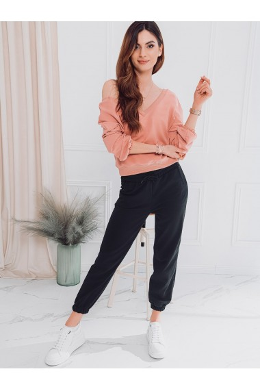 Pantaloni de trening femei PLR046 - negru