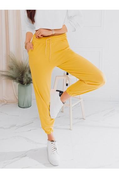 Pantaloni de trening femei PLR046 - galben