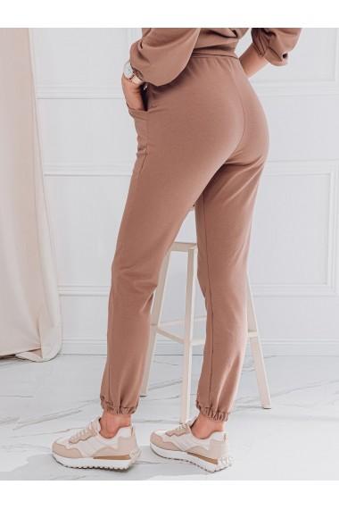 Pantaloni de trening femei PLR049 - maro