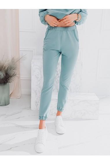 Pantaloni de trening femei PLR049 - albastru-deschis
