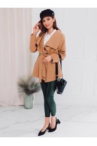 Palton dama CLR010 - maro