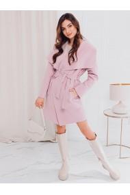 Palton dama CLR011 - roz
