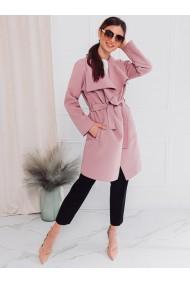 Palton dama CLR011 - roz-inchis