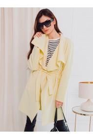 Palton dama CLR011 - galben