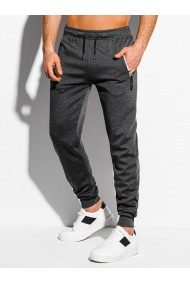 Pantaloni de trening barbati - P1050 - gri-inchis
