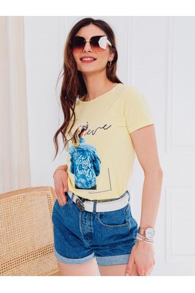 Tricou femei SLR009 - galben