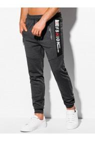 Pantaloni de trening barbati - P1048 - gri-inchis
