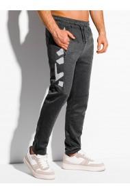 Pantaloni de trening barbati - P1044 - gri-inchis