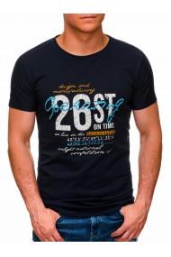 Tricou barbati S1422 - bleumarin