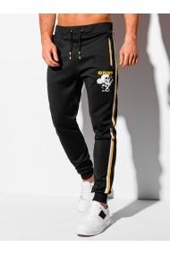 Pantaloni de trening barbati P1075 - negru