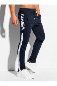 Pantaloni de trening barbati P1082 - bleumarin