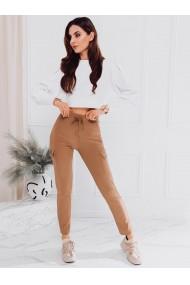 Pantaloni cargo femei PLR065 - camel