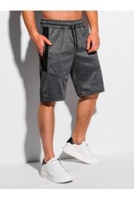 Pantaloni scurti barbati W328 - gri-inchis