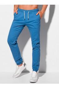 Pantaloni joggers barbati P1091 - albastru