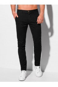 Pantaloni chino barbati P1090 - negru