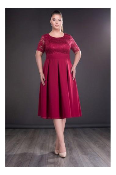 Rochie cu fusta in pliuri - Bella X61720bd