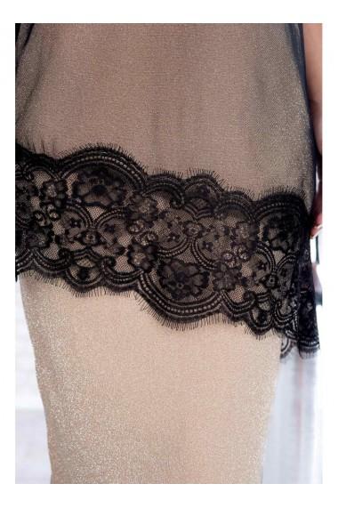 Rochie din lurex cu capa eleganta din tul cu maneca 3/4- Felicia X91366vd