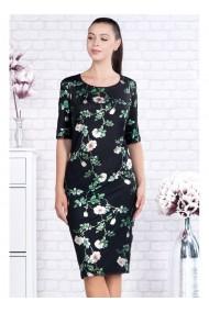 Rochie pe corp cu imprimeu floral-Valentina X91391nvd