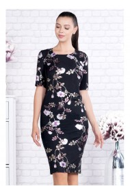 Rochie pe corp cu imprimeu floral-Valentina X91391nrz