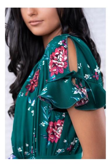 Rochie alba cu imprimeu floral Aleina 81190albf