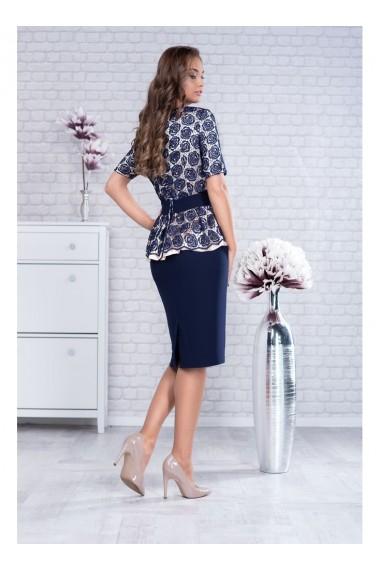 Rochie cu peplum si accesoriu in talie - Milena X91497ng