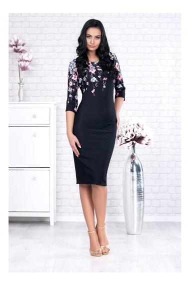 Rochie pe corp cu imprimeu floral-Adina 91399ng