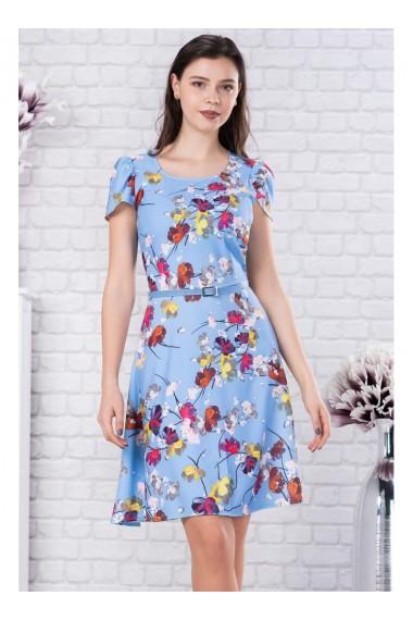 Rochie cu imprimeu floral Ayline 11782bl