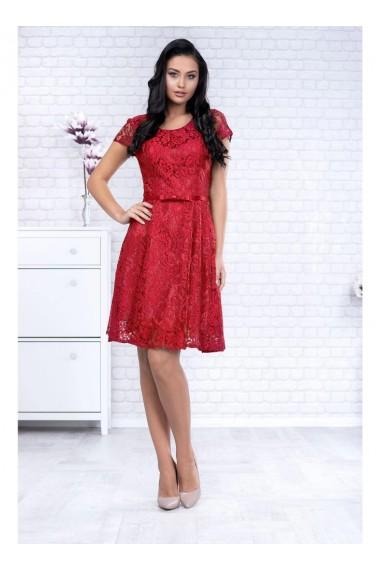 Rochie din dantela cu fusta clos - Sonia X51452rd