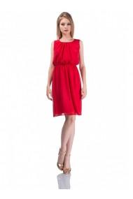 Rochie rosie din voal Elisa 61723R