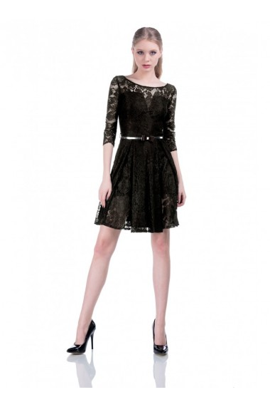 Rochie neagra din dantela Diana 61626N
