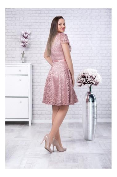 Rochie din dantela cu glitter cu fusta clos Sonia 51452capp2