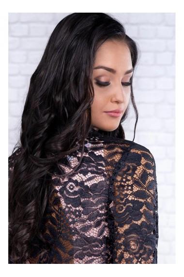 Bolero negru din dantela cu sclipici Mona 92570NG1