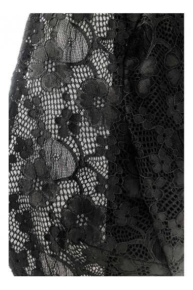 Bolero negru din dantela cu maneca lunga ANA C32003NG