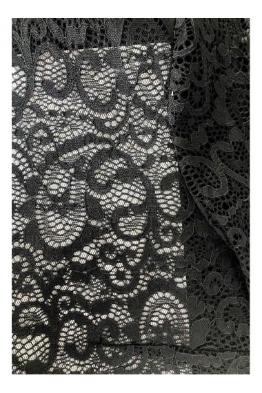 Bolero negru din dantela cu maneca 3/4 ANA B32003NG