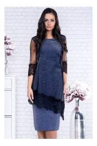 Rochie din lurex cu capa eleganta din tul cu maneca 3/4- Felicia X91366AB