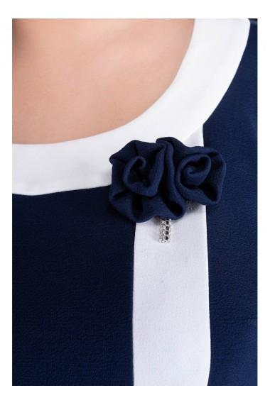 Rochie bleumarin cu accesoriu-Natasa 81098BLM