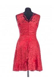 Rochie rosie din dantela Mirya 61653R
