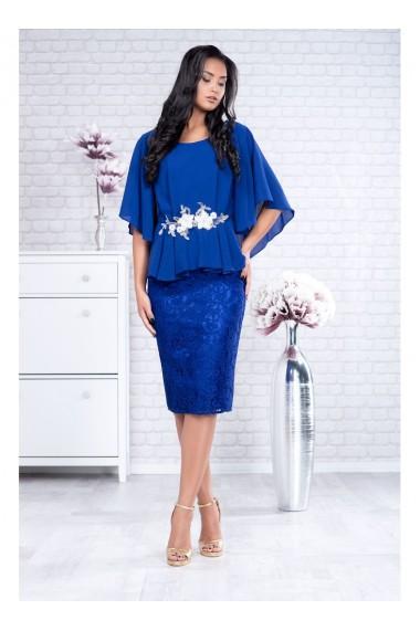Rochie eleganta din voal si dantela Salome 81189ABR