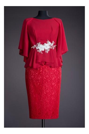 Rochie eleganta din voal si dantela Salome 81189R