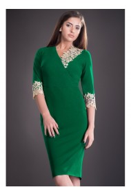 Rochie verde cu dantela Mirela 81251V